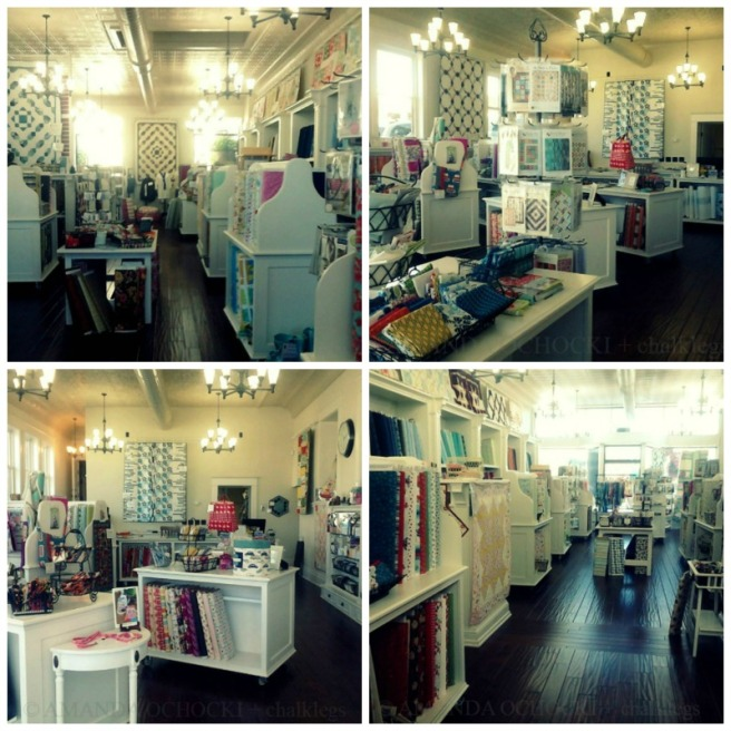 I love the fabric shop in my little town ♥