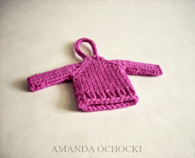 © AMANDA OCHOCKI + chalklegs tiny sweater cheers